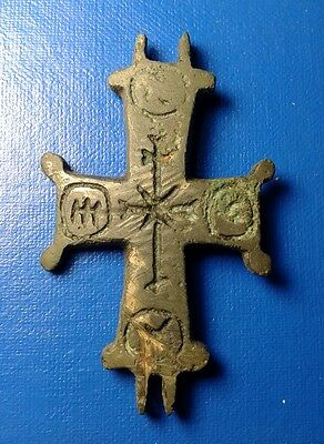 Ancient Bronze Crosses-encolpions. 10th to the mid-12th century. Very Rare !!!
