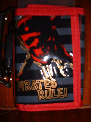 Disney Store Pirates of the Caribbean Jack Wallet NEW!