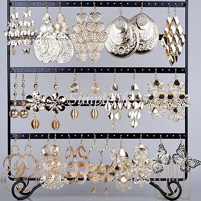 Wholesale Jewelry lots Mixed Style Gold Plated Fashion Dangling Earrings 12pairs