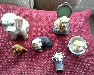Collection of dog figurines, figures, terriers,  collectable, statue