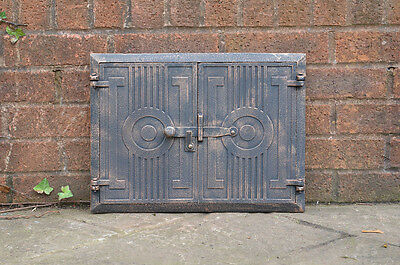 43.8 x 33 cm cast iron fire door clay / bread oven doors pizza stove smoke house
