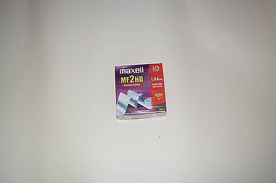 10pcs Maxell MF2HD Macintosh Formatted 1.44 mb Double Sided Micro Floppy