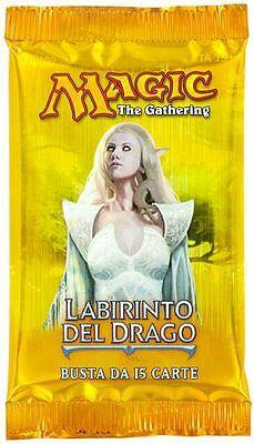 "Magic the Gathering Bustina/Booster Pack ""Labirinto del Drago/Dragon's Maze"" ..."