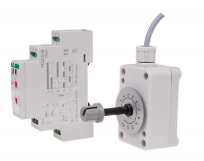F&F PCU-518DUO Zeitrelais mit Potentiometer Relais Time relay with potentiometer
