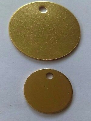 ENGRAVED-PET-TAGS-ID-DISC-TAG-CAT-DOG--BRASS-NICKEL-32mm-20mm