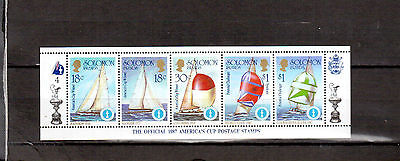 STAMPS Solomon Islands (1986 America's Cup Strip MNH