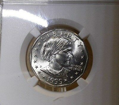 1999 D Susan B Anthony $1, NGC Certified MS 65
