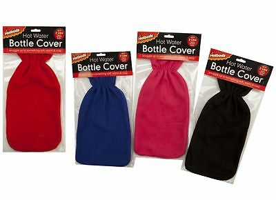 Large Hot Water Bottle Cover Fits 2 Ltr Bottle Soft Warm & Cosy