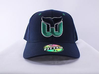 Hartford Whalers Nhl Adult Sizes 7, 7 1/8 Fitted Cap Hat (H-20)
