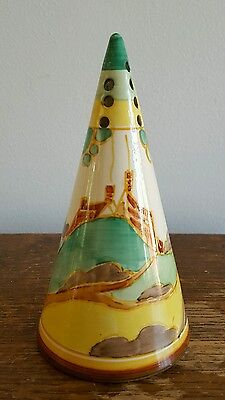 Clarice Cliff Secrets Pattern Conical Sugar Sifter Shaker