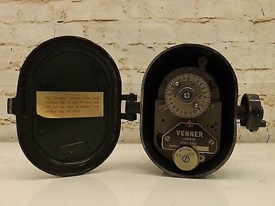 Vintage 1950s Venner Time Switch Steampunk British Industrial History Working