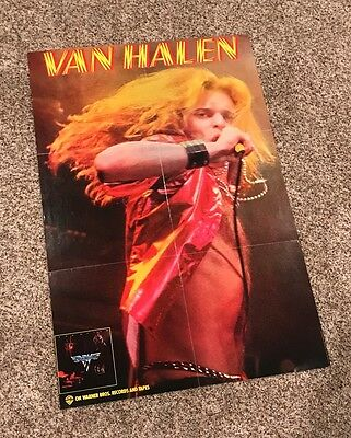 Vtg 1978 Van Halen Warner Bros. LP Record Cassette Promo Poster David Lee Roth