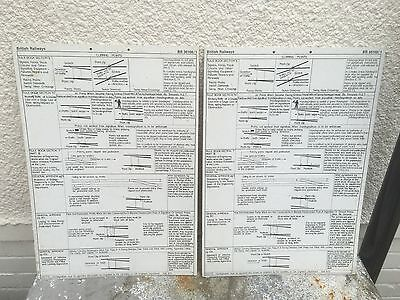 2x British Rail Rule Book Notices For Clipping Points Mounted On Card