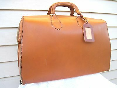 Vintage Steampunk Brown Leather Doctors Bag Travel Satchel Very Nice Condition