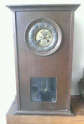 Antique Edwardian tall clock with brocot  movement with mercury pandalam.