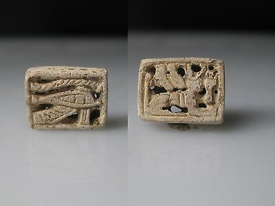 JFF - Ancient Egyptian Plaque with a Sphinx and Wedjat Eye