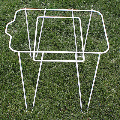 Hair Pin Table Ice Cooler / Chest Stand Steel Rod Legs Unique Mid Century