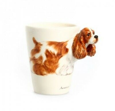 Blue Witch 3D  American Cocker  Dog Ceramic Hand Crafted Coffee Mug