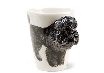 Blue Witch 3D  Poodle  Dog Ceramic Hand Crafted Coffee Mug
