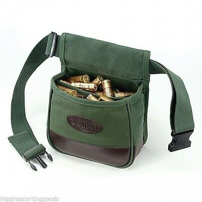 Allen Shooter's Bag Double Compartment Green Heavy Canvas with Belt ALN2306