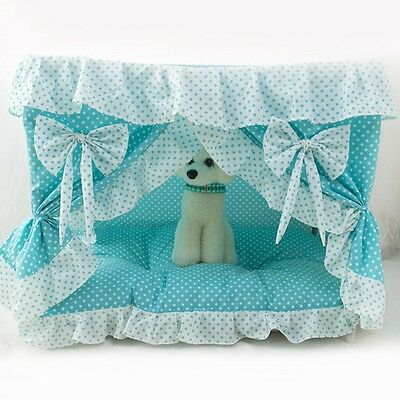 Newly Pet House Sweety Princess Bed Lace Dog Cat Kennel Indoor Folding Cushion