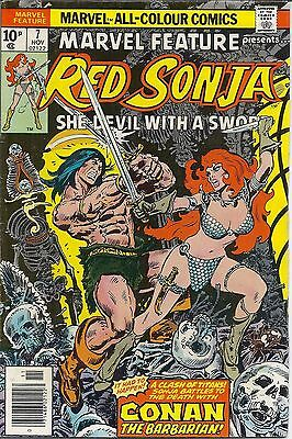 Red Sonja #7 Marvel Comics NOV 1976 Vol. 1 comic books She-Devil Conan Barbarian