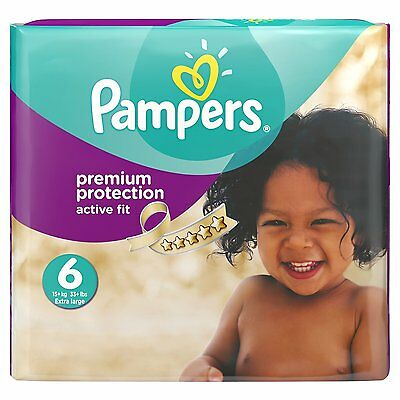 Pampers Active Fit Size 6 Extra Large Junior Monthly Saving Pack 120 Nappies NEW