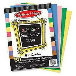 Melissa & Doug - Multicoloured Construction Paper - Pack 50