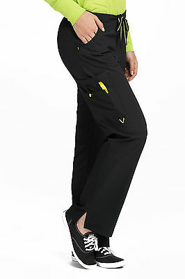 13993928a2b Activate by Med Couture Women's Hi Definition Drawstring Scrub Pant  8743-Black