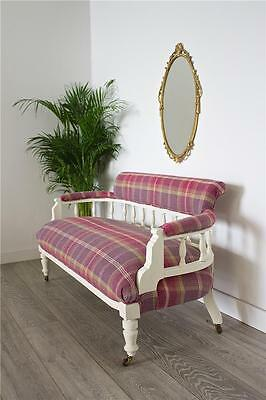 DELIVERY£50 WOW!! Antique Victorian 2 Seater Sofa Restored Newly Upholstered
