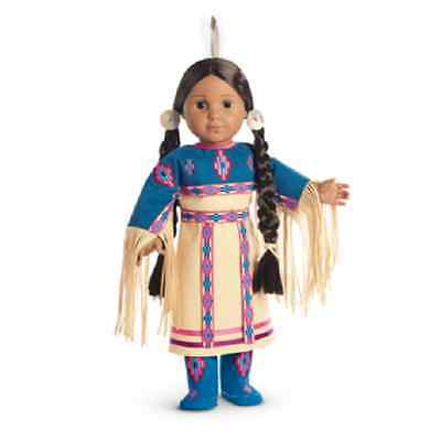 American Girl Doll Kaya's Pow Wow Dance Dress Of Today Outfit NEW!! Blue & White