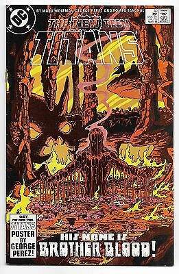 New Teen Titans 1984 #40 Very Fine George Perez Brother Blood