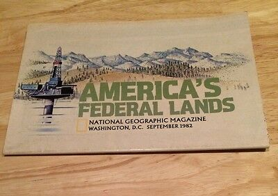National Geographic Magazine Map AMERICAS FEDERAL LANDS September 1982