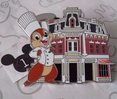Chip n Dale Main Street Magic Mystery Disneyland Carnatian Cafe Collection Pin