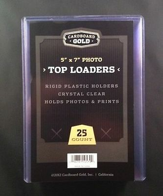 25 5x7 Ultra CBG Premium Pro Hard Rigid Toploaders Photo Topload Holders - New