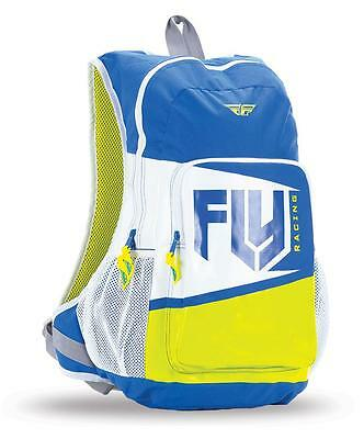 "New 2017 Fly Racing ""jump"" Backpack - Blue/lime Green - 100% Genuine Product New"