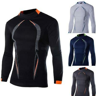 Mens Compression Baselayer Body Armour Thermal Under Skin T-Shirt Gear Top