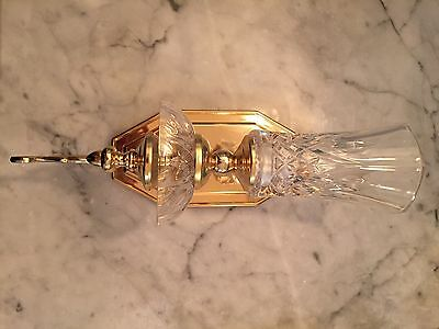 Antique Glass And Brass sconces - Set Of Three