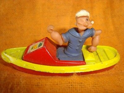 Old Vintage Diecast Popeye Boat toy Model   from England 1950