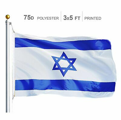 USA SELLER 3' x 5' ft Polyester Israeli Flag Israel High Quality Outdoor Indoor