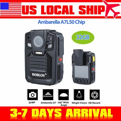 Security Body Worn Camera Police Force Pocket Video Recorder 1080P Night Vision