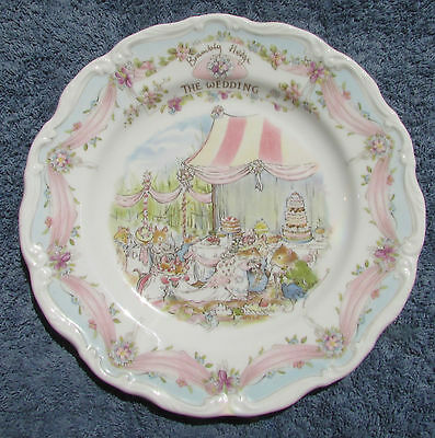 Royal Doulton Bone China Cabinet Plate Brambly Hedge The Wedding