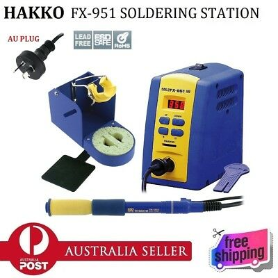 New In Box HAKKO FX-951 Lead Free Digital Soldering Iron Station ESD Safe 70W