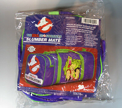 Vintage the real Ghostbusters Rare Slumber Mate Duffle Bag 1980's NEW Unopened