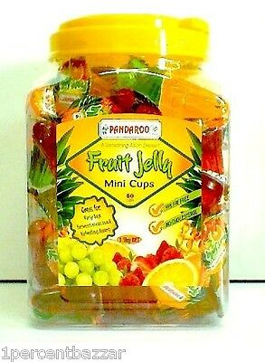 Pandaroo Fruit Jelly Mini Cup 160 x 19g - 3.2kg