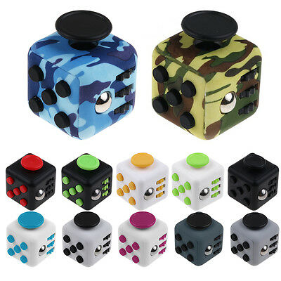 Fidget Cube Toys Stress Relief Focus For Adults Children 6+ ADHD & AUTISM Gifts