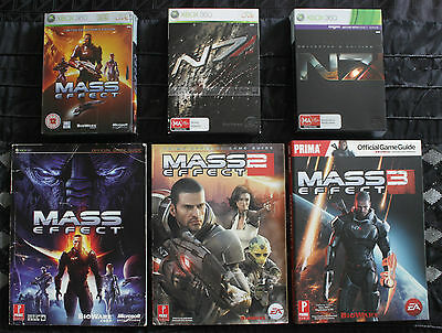 Mass Effect Trilogy Collector's Editions with Official Strategy Guides