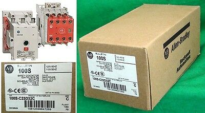 New in Box Safety Contactor 100S-C23D32C Coil Allen Bradley Made in Switzerland