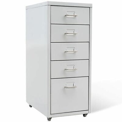 Metal Filing Cabinet Drawer Unit Freestanding Storage Office Bedroom Organizer