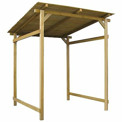Large Wooden Garden Shed House Storage Lean-to Canopy Outdoor Inclined Roof